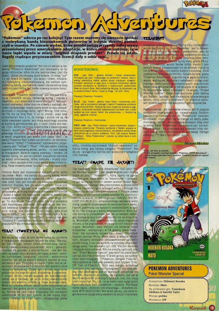 Pokemon Special recenzja kawaii